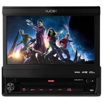 Dvd Player Retrátil Touch Mp3 Wma Usb 7 Polegadas