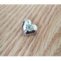 Berloque Coração Dourado Estilo Pandora Vivara Pulseira Bead
