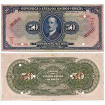 Rc0593 R129m 50 Mil Réis Thesouro Nacional Modelo 1924