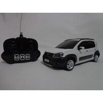 Carro Controle Remoto Fiat Novo Uno Branco 1/18 Cks