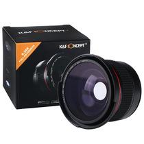Lente K&f 58mm Fisheye Macro 58mm Hd Olho Peixe Canon 0.35x