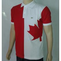 Polo Bandeira Do Pais Canadá Com Frete Gratis