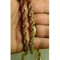 Corrente Cordão Grosso Masculino Aço Inox Dourado.7mm