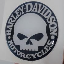 Adesivo Resinado Harley Davidson Skull Moto Carro Capacete