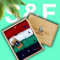 Super Kit 4 Camisas Camisetas Polo Sheepfyeld + Caixa