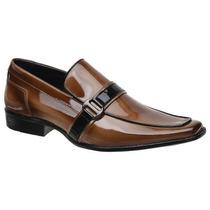Sapato Social Gofer Em Couro Verniz Mouro 273 Fkv Calçados