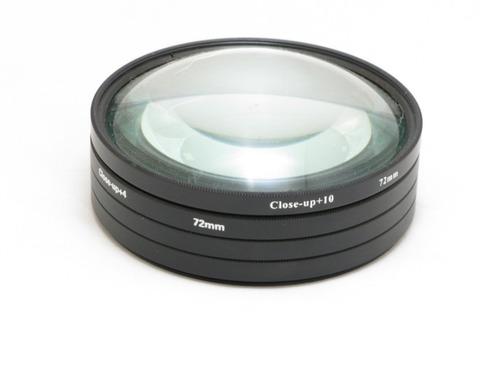 4 Lentes Closeup Canon Nikon Fuji Kodak 72mm Macro +1+2+4+10