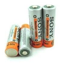 4 Pilha Sony Aa Recarregável 3800mah 1,2v Nimh Bateria