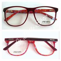 Armação Óculos De Grau Feminino Acetato Pr33pv