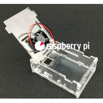 Case Transparente C/ Cooler Para O Raspberry Pi 1 - 2 - 3 !!