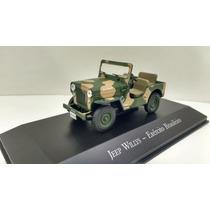 Miniatura Cj-3b Jeep Willys - Exército Brasileiro 1/43