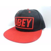 Boné Obey Aba Reta Snapback/regulável.
