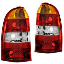 Lanterna Traseira Palio Weekend 01 02 03 04 Carcaça Vermelha