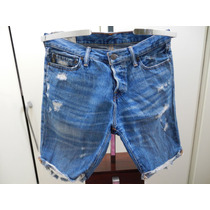 Bermuda Abercombrie & Fitch Jeans Fem. Tam 42 Original