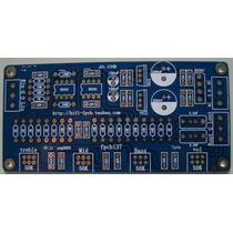 Placa Lisa Para Montar Pré Amplificador Com Controle De Tons
