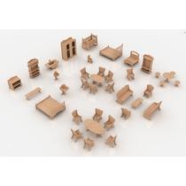 Coleção Mobilia Casa Da Barbie - 36 Peças