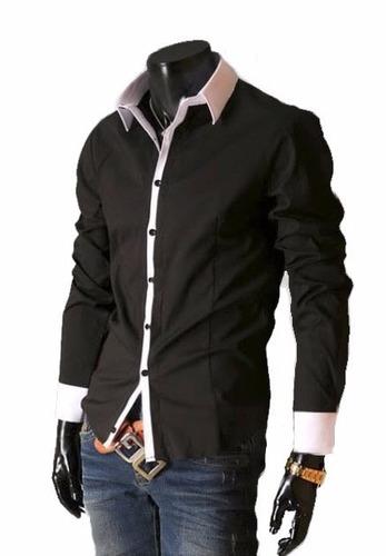 Camisa Social Masculina Luxo Slim Fit Entrega Garantida