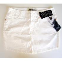 Saia Jeans Denuncia Feminina Branca Tamanho 44 Original