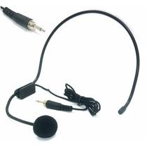 Microfone Cabeça Headset Plugue P2 C/ Rosca S/ Adaptadores