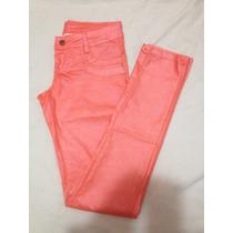 Calça Jeans Sawary Resinada Coral