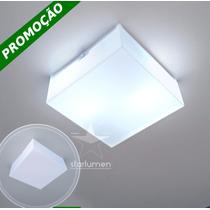 Kit 12x Plafons Led Acrílico 30x30 Luminária Com Lâmpada