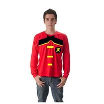 Camiseta Camisa Robin Super Herói Manga Longa Customizada