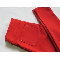 Calça Legging Infantil Varias Cores Em Coton Com Bolso