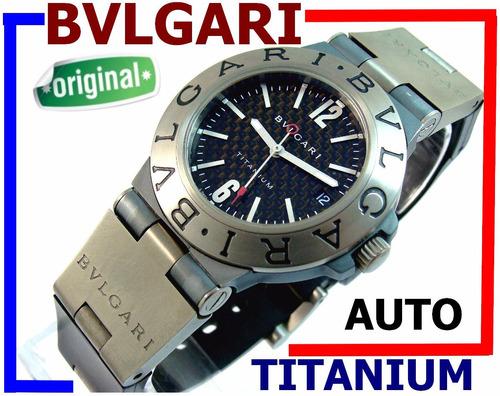 b367bf20bf1 Bvlgari Titanium Automático Autêntico Carbono 100% Revisado!
