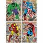 Kit 4 Quebra-cabeças Nano Marvel Comics