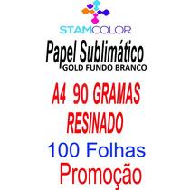 Papel Sublimatico Gold A4 90 Gramas, Pacote 100 Folhas P2
