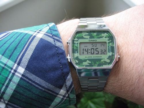 68696c665f7 Relógio Casio A168wec-3df Prata A168 Camuflado Vintage Retrô. Preço  R  175  Veja MercadoLibre