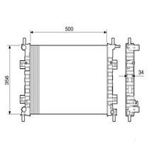 Radiador Motor-alternativo-ka 2009 Diante 1.0/1.6 C/ar-