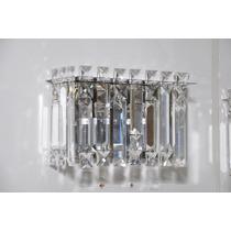 Arandela Luminária De Parede Com Cristal Mira 2 - Adn+
