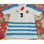 Camisa Seleção Uruguai Branca Suarez 2016