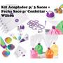 Kit Adaptador P/3 Sacos+ Fecha Saco Confeiteiro- Wilton