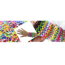 600 Elásticos Borrachinha Rainbow Loom Bands P/ Pulseira