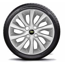 Jogo Calota Aro 15 Chevrolet Prisma 2015 C/emblema Gm 4peças