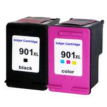 Kit Par De Cartuchos Hp 901xl Preto (black) 901xl Colorido (