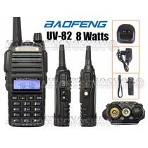 Radio Ht Dual Band Vhf Uhf Baofeng Uv-82 Bateria 5000mh Fort