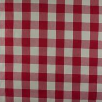 Tecido Algodão Colorê Xadrez Crú/vermelho