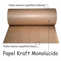 Bobina De Papel Kraft Monolúcido 80gr Larg 100 Cm X 260 Mts