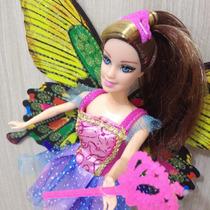 Boneca Princesa Fada Com A Asa De Gliter!!! Linda
