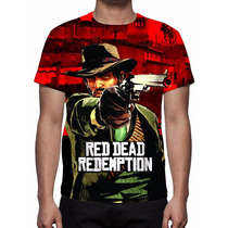 Camisa, Camiseta Game Red Dead Redemption - Estampa Total