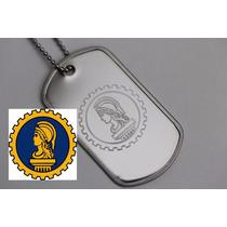 Placa Dog Tag Premium Gravação Simbolo Desenho Logomarca