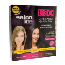 Kit Liso Defrisagem Escova Gradativa 900ml Salon Line