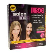 Kit Liso Defrisagem Escova Gradativa 900ml Salon Line