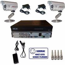 Kit Vigilância 2 Câmeras Infravermelho Externa Ou Interna