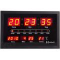 6289 - Relógio Parede Digital Led Termometro Original Herweg