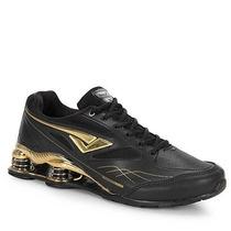 Tenis Masculino Bouts Original Preto Dourado Preço Especial