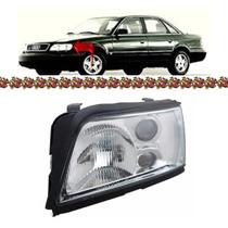 Farol Audi A6 Lado Esquerdo Com Auxiliar 1994 1995 1996